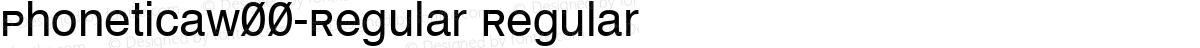 PhoneticaW00-Regular Regular