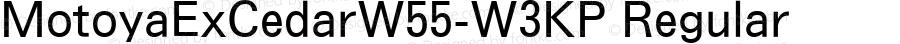 MotoyaExCedarW55-W3KP Regular Version 4.00