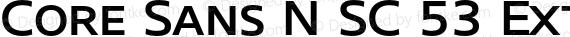 Core Sans N SC 53 Extended Med Regular preview image