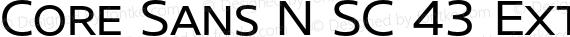 Core Sans N SC 43 Extended Regular preview image