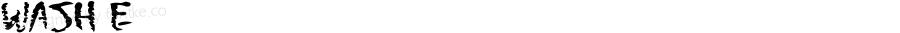 WashMe ☞ Version 1.000;com.myfonts.easy.fonthead.wash-me.regular.wfkit2.version.3czN