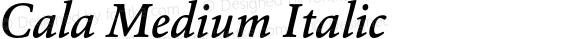 Cala Medium Italic