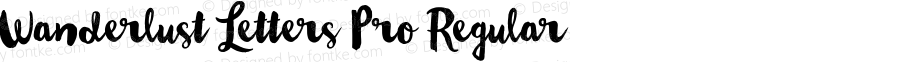 Wanderlust Letters Pro Regular Version 1.000