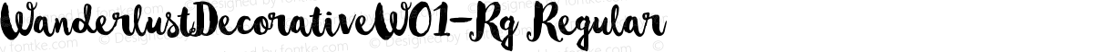 WanderlustDecorativeW01-Rg Regular