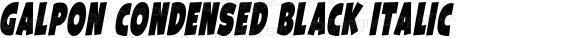 Galpon Condensed Black Italic