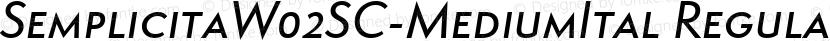 SemplicitaW02SC-MediumItal Regular Preview Image