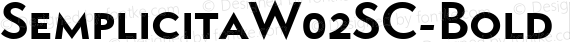 SemplicitaW02SC-Bold Regular preview image