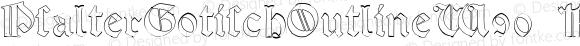 PsalterGotischOutlineW90-Rg Regular Version 1.00