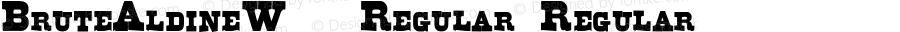 BruteAldineW90-Regular Regular Version 1.00