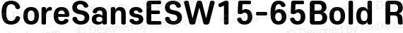 CoreSansESW15-65Bold Regular preview image