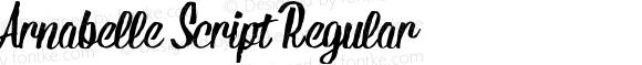 Arnabelle Script Regular Version 1.000