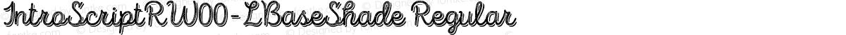 IntroScriptRW00-LBaseShade Regular