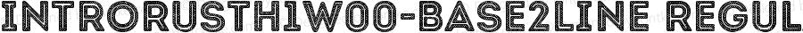 IntroRustH1W00-Base2Line Regular Version 1.00