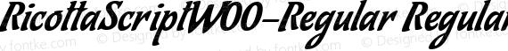 RicottaScriptW00-Regular Regular preview image