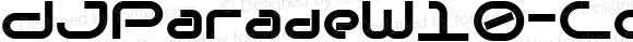 DJParadeW10-CondensedBold Regular Version 1.1