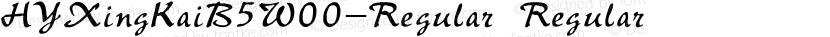 HYXingKaiB5W00-Regular Regular Preview Image