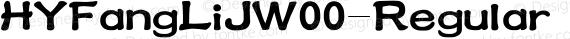 HYFangLiJW00-Regular Regular preview image