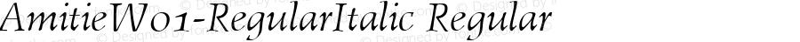 AmitieW01-RegularItalic Regular Version 1.1