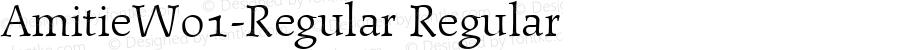 AmitieW01-Regular Regular Version 1.1
