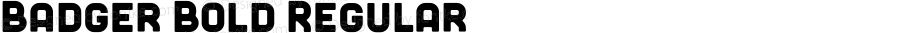 Badger Bold Regular Version 1.000;PS 001.000;hotconv 1.0.70;makeotf.lib2.5.58329