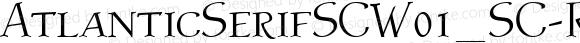 AtlanticSerifSCW01_SC-Reg Regular Version 1.1