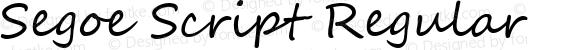Segoe Script Regular preview image