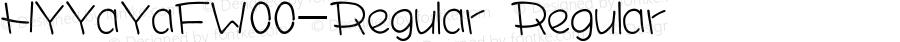 HYYaYaFW00-Regular Regular Version 3.53