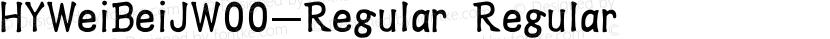 HYWeiBeiJW00-Regular Regular Preview Image