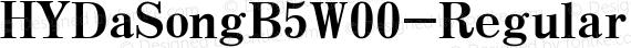 HYDaSongB5W00-Regular Regular preview image