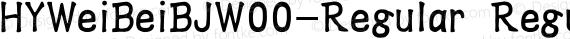 HYWeiBeiBJW00-Regular Regular preview image