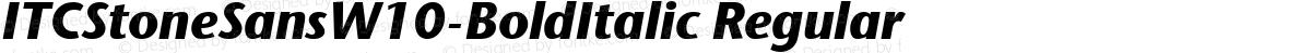 ITCStoneSansW10-BoldItalic Regular