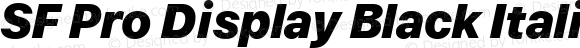 SF Pro Display Black Italic