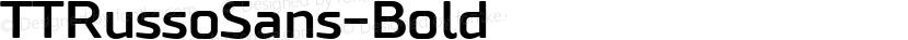 TTRussoSans-Bold ☞ Preview Image