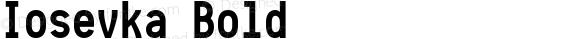 Iosevka Bold r0.1.14; ttfautohint (v1.3)