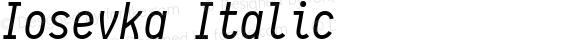 Iosevka Italic r0.1.14; ttfautohint (v1.3)