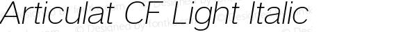 Articulat CF Light Italic Version 1.030