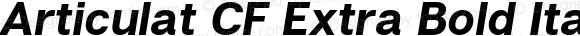 Articulat CF Extra Bold Italic Version 1.030