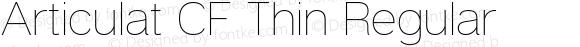 Articulat CF Thin Regular Version 1.030