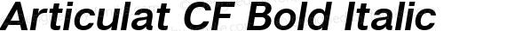 Articulat CF Bold Italic Version 1.030