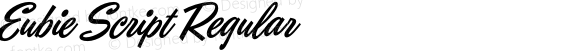 Eubie Script Regular preview image