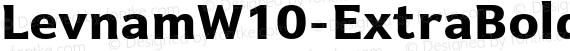 LevnamW10-ExtraBold Regular preview image