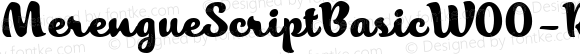 Merengue Script Basic W00 Rg