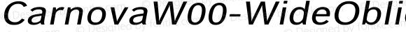 CarnovaW00-WideOblique Regular Version 1.1
