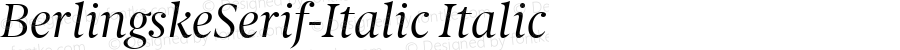 BerlingskeSerif-Italic Italic Version 1.004