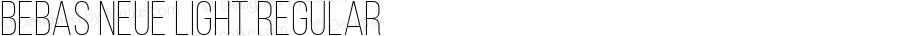 Bebas Neue Light Regular Version 1.003;PS 001.003;hotconv 1.0.70;makeotf.lib2.5.58329; ttfautohint (v1.4.1)