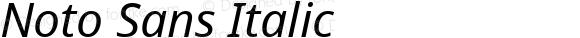 Noto Sans Italic