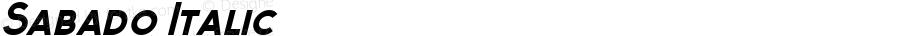 Sabado Italic 1.000; ttfautohint (v1.4.1)