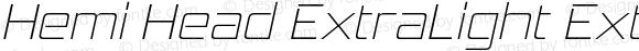 Hemi Head ExtraLight ExtraLight Italic