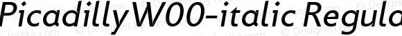 PicadillyW00-italic Regular Version 1.00