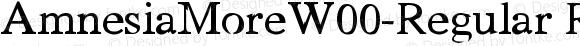 AmnesiaMoreW00-Regular Regular Version 1.00
